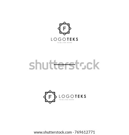 letter f logo templates stock vector royalty free 769612771