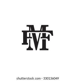 letter F and M monogram logo