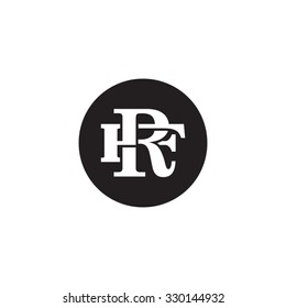 letter F and R monogram circle logo