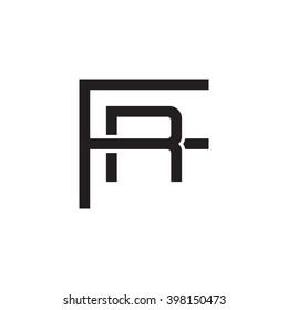letter F and R monogram logo black
