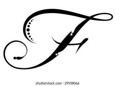Letter F Script
