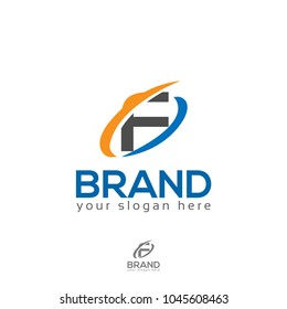 Letter F Swoosh Logo
