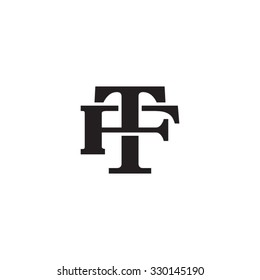 letter F and T monogram logo