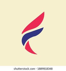 Letter F Wings Business Logo