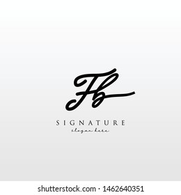 Letter FB Signature Logo Template - Vector