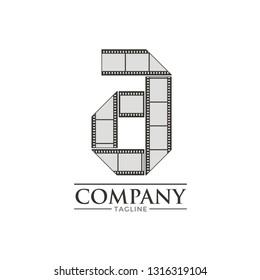 Letter A Filmstrip Logo