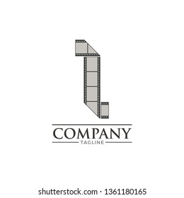 Letter i filmstrip logo