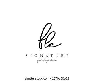 Letter FK Signature Logo - Vector