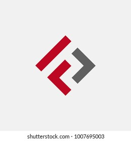 letter FL logo concept