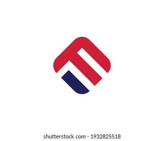 letter fm and mf logo design vector template