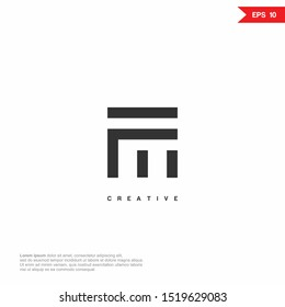 Letter FM modern Logo icon. Premium Line Alphabet Monochrome Monogram emblem. Vector graphic design template element. Graphic Symbol for Corporate Business Identity.
