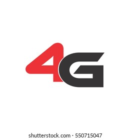 letter four g logo vector