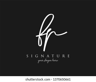 Letter FP Signature Logo - Vector