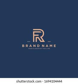 letter FR logo design vector template