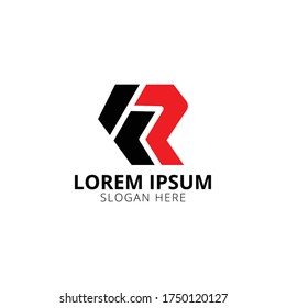Letter FR Logo Icon Design Template Element, Abstract letter FR logotype