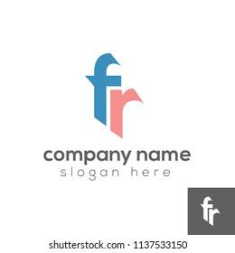 Letter FR logo template, Initial logo design