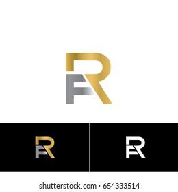 letter FR logotype luxury modern elegant