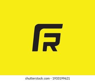 letter fr and rf logo design vector template