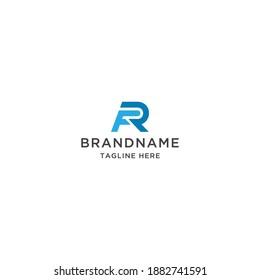 Letter FR RF logo icon design template vector
