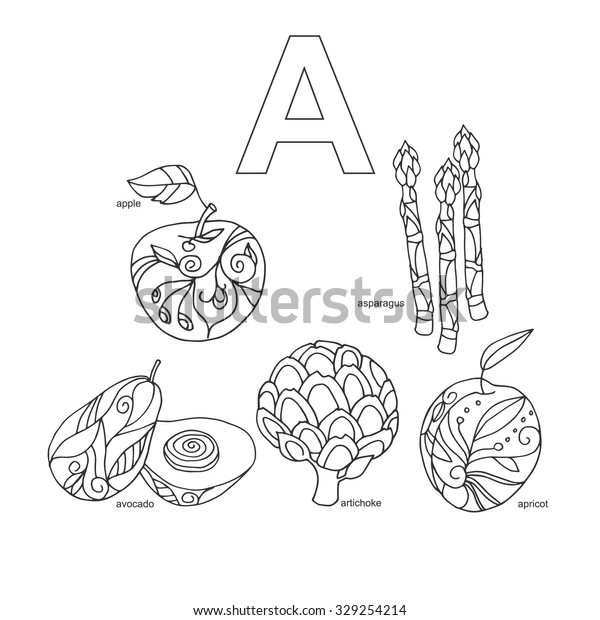 Fruit And Vegetable Coloring Pages - Free Coloring Pages For ... | 620x600