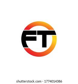 Letter FT logo icon design vector. monogram logo vector illustration