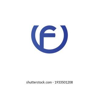 letter fu and uf logo design vector template