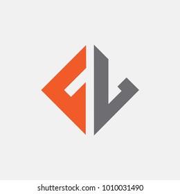 letter FV logo vector, FL icon alphabet