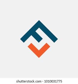 letter FV logo vector, icon alphabet
