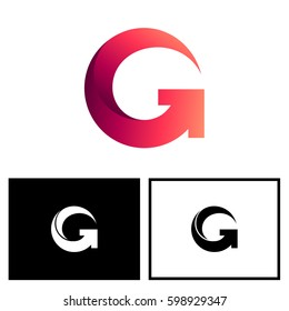 Letter G With Arrow Logo Design Template