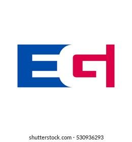 letter G and E logo vector