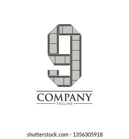 Letter g filmstrip logo