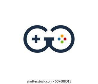 Letter G Game Logo Design Template Element