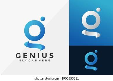 Letter G Genius Brand Identity Logo Template, Modern Logo Designs Vector Illustration Template