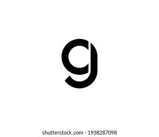 letter G and gj, jg logo design vector template