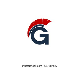 Letter G Gladiator Logo Design Template Element