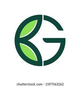 Letter G Green Leaf Plant Nature Farm Business Company Vector Logo Design