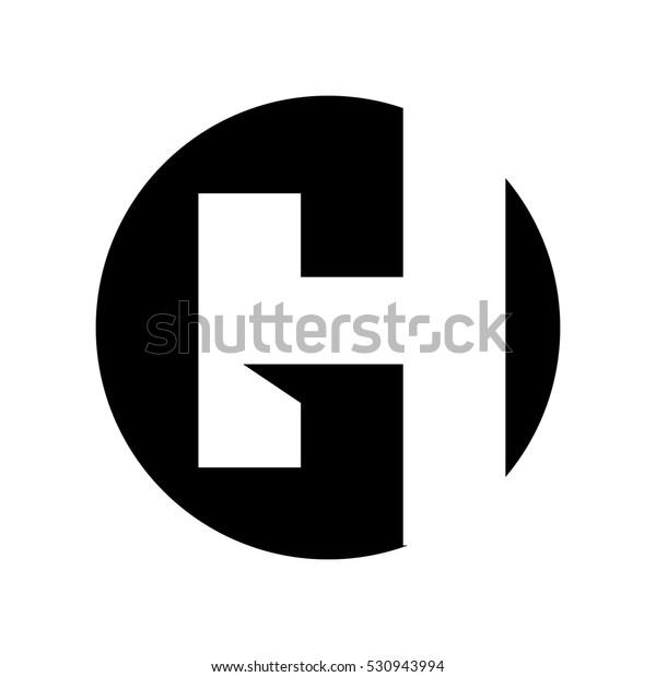 Luxury Letter H Logo:  Letter G H Logo Vector Stock Vector (Royalty Free) 530943994