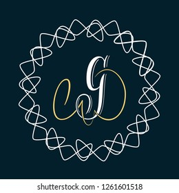 Letter G - hand lettering design in copperplate style