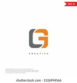 Letter G, LG, GL modern Logo icon monogram design. Vector graphic design template element. eps10