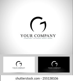 Letter G Logo Design. Creative logo of a letter G and business card template design.