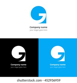Letter G logo icon flat and vector design template.