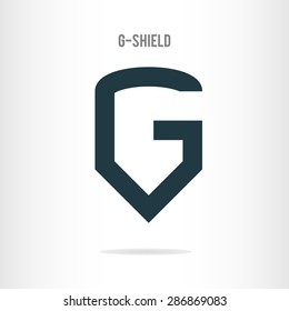Letter G logo template. The letter G in the form of shield