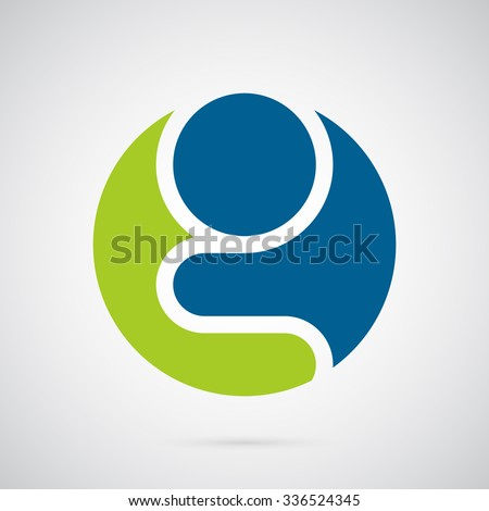 letter g logo template silhouette of a praying man in a circle creative symbol