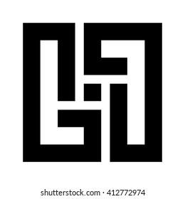 letter G logo vector. square logo.