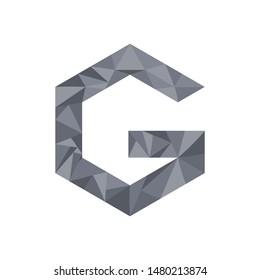 Letter G monogram Logo concept geometric style