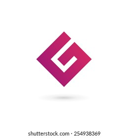 Letter G number 6 logo icon design template elements