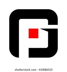 letter g and P logo vector.