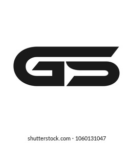 letter g and s vector logo.