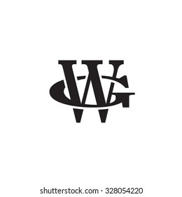 letter G and W monogram logo