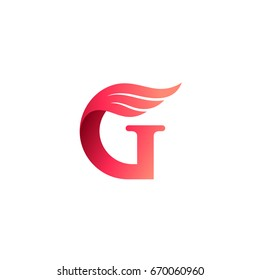 Letter G With Wing Logo